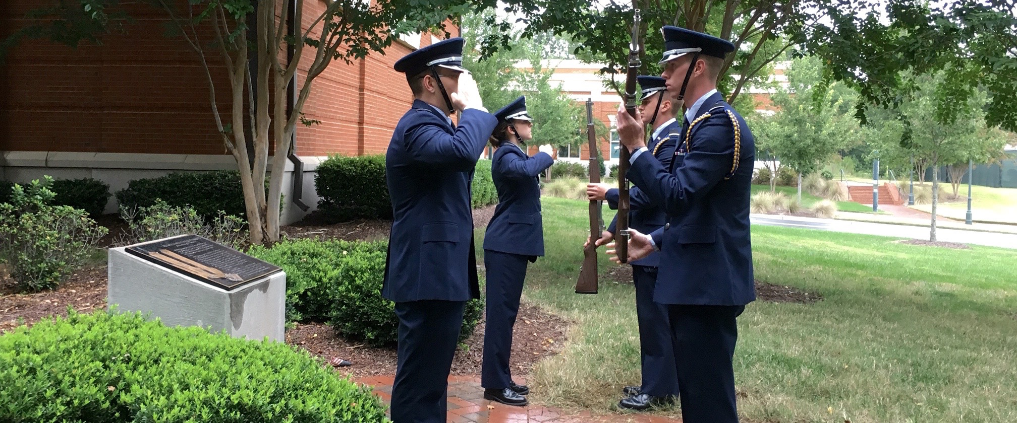 Cadets at Memorial