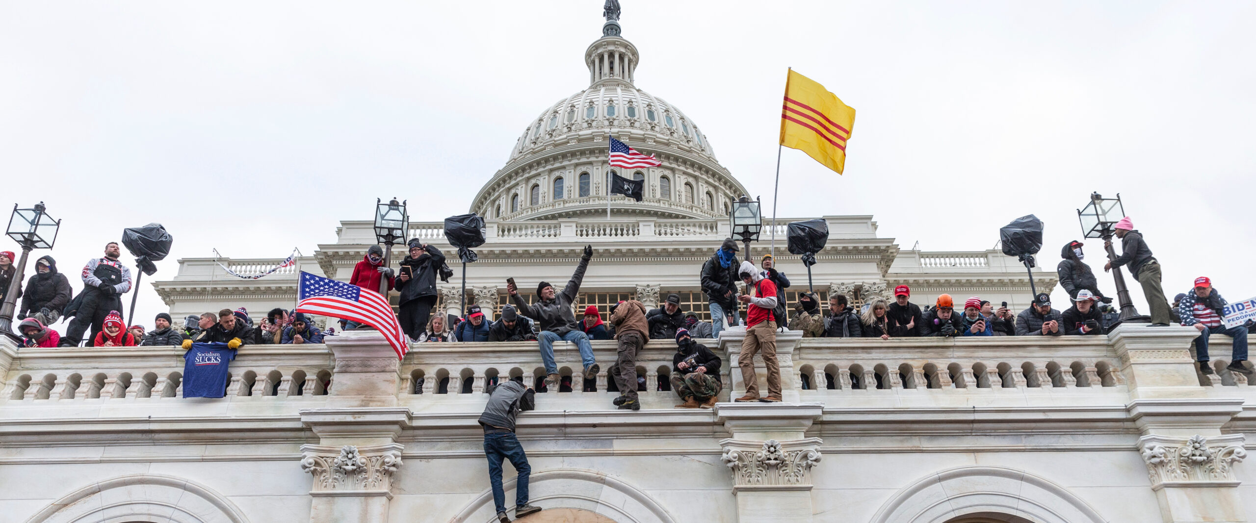 Protesters Climbing On U.S. Capitol