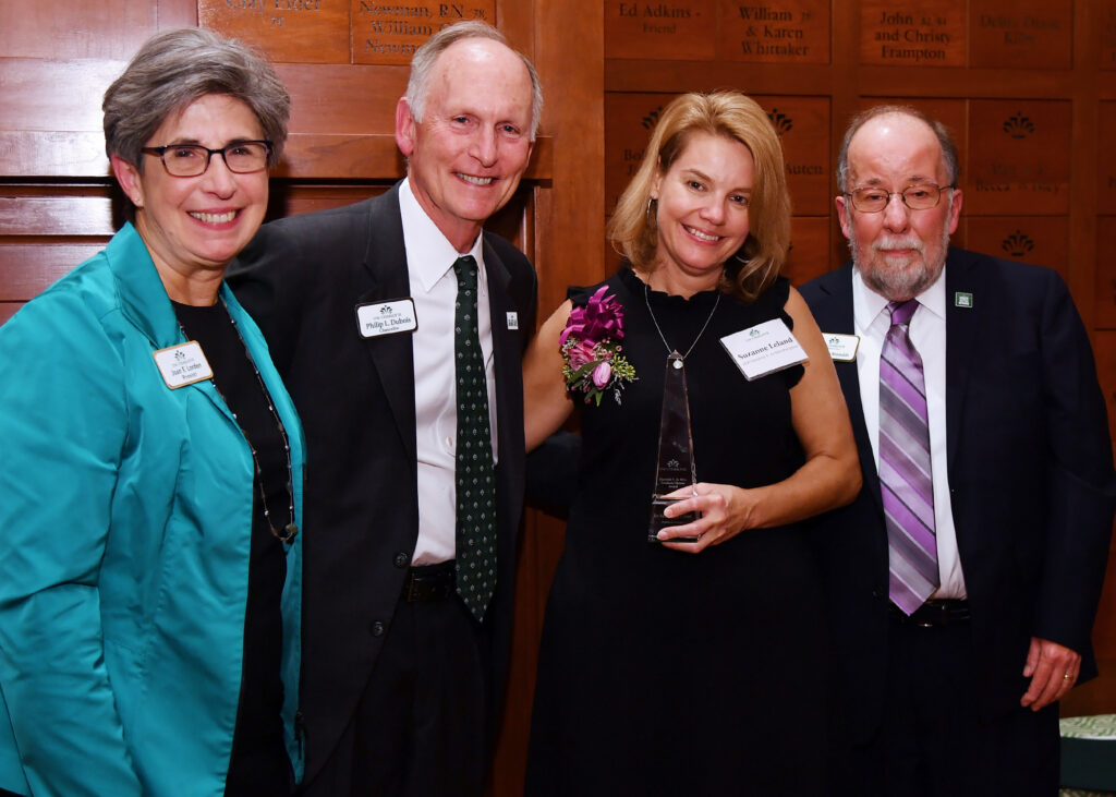 Provost Joan Lorden, Chancellor Philip Dubois, honoree Suzanne Leland and Graduate School Dean Tom Reynolds